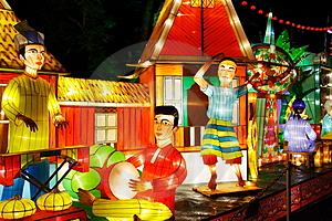 Lantern Performance (Malay) Royalty Free Stock Images - Image: 3767069