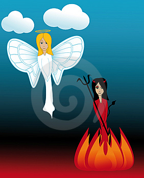 Heaven and Hell Stock Photos