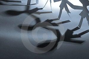 Three shadows Stock Image