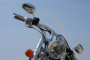 Chrome Motorbike Royalty Free Stock Photo - Image: 3788335