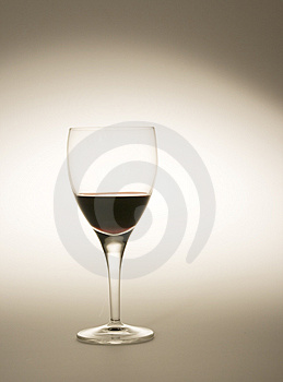 Wine glass filled with red wine Royalty Free Stock Photos