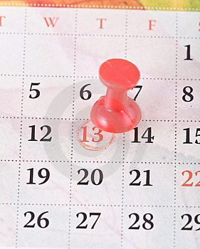 Pin and calendar. Stock Image
