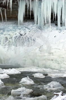 Frozen Waterfall Stock Photos - Image: 380693