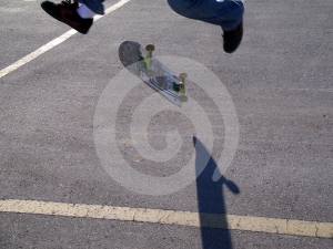 Skateboard Trick With A Shadow Stock Photos - Image: 383893