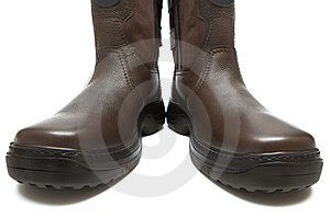 Man's Boots On A Thick Sole Stock Photos - Image: 3801773