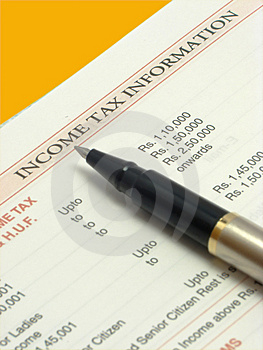 Income Tax Text Royalty Free Stock Photography - Image: 3804207