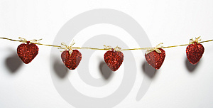 Hearts On Rope Stock Images - Image: 3811414
