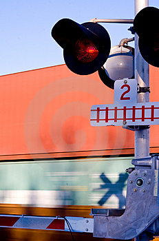 Train Crossing 1 Royalty Free Stock Images - Image: 3812899