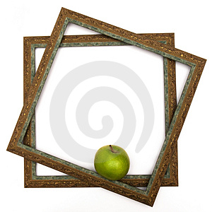 Green apple in green scopes Royalty Free Stock Photography