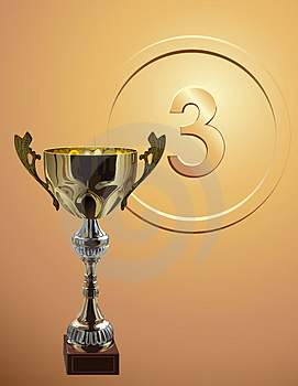 Turniejowy Cup_on_bronze_background Fotografia Royalty Free - Obraz: 3818657