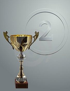Wettbewerbsschale Auf Silbernem Hintergrund Stockbild - Bild: 3818711