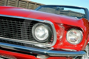 Red 1969 Convertible Royalty Free Stock Images - Image: 3822579