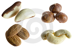 Nuts On White Stock Images - Image: 3823814