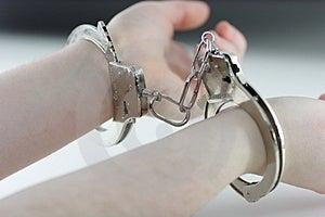 Handcuffed Royalty Free Stock Image - Image: 3826496
