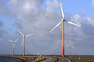 Windturbines In The Netherlands Royalty Free Stock Photos - Image: 3827498