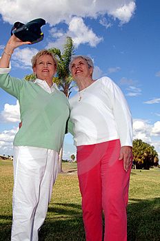 Senior Friends Taking Photo Stock Photos - Image: 3841653