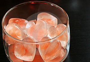 Free Stock Image - Heart Shaped Ice Cubes