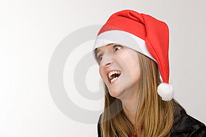 Crazy Santa's Girl Royalty Free Stock Images - Image: 3843519