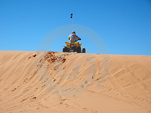 Rider On The Dunes Royalty Free Stock Image - Image: 3849226