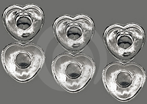 Silver Hearts Stock Image - Image: 3852981