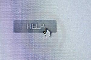 Кнопка помощи Стоковая Фотография RF - изображение: 3854487
