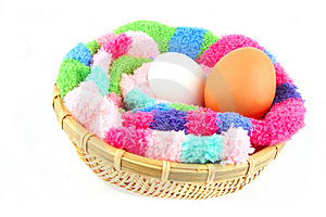 Fluffy Clutch For Two Eggs Royalty Free Stock Image - Image: 3856636