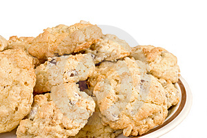 Oatmeal Chocolate Chip Cookie Isolated Royalty Free Stock Images - Image: 3858229