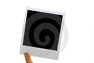 Blank polaroid Free Stock Photography