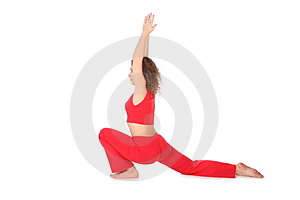 Yoga girl hands up Royalty Free Stock Images