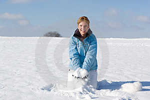 Throwing Snow Royalty Free Stock Photo - Image: 3870285