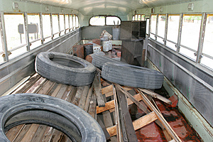 Adandon School Bus Stock Image - Image: 3874801