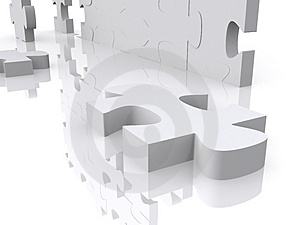 3d puzzle Stock Image