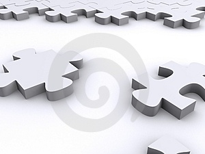 Nice 3d puzzle rendering Royalty Free Stock Image