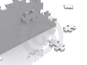 3d puzzle Stock Photography