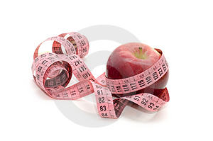 Apple And Measuring Tape Stock Photos - Image: 3881803