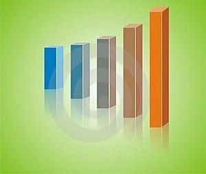 Increased Fun Graph Royalty Free Stock Image - Image: 3882396