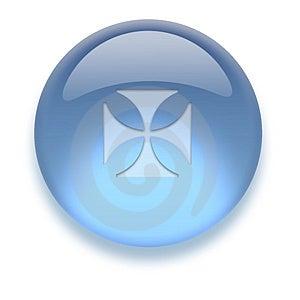 Aqua Icon Stock Image - Image: 3882971