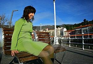 Green Dress Girl Stock Image - Image: 3885841