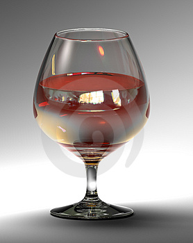 Goblet With Cognac (3d Rendering) Stock Photos - Image: 3886633