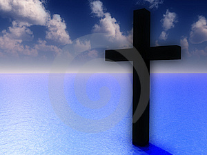 The Cross In Daytime Water 5 Royalty Free Stock Photo - Image: 3887245