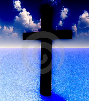 The Cross In Daytime Water 6 Stock Images - Image: 3887254
