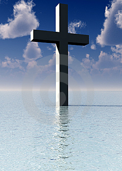 The Cross In Daytime Water 8 Royalty Free Stock Image - Image: 3887266