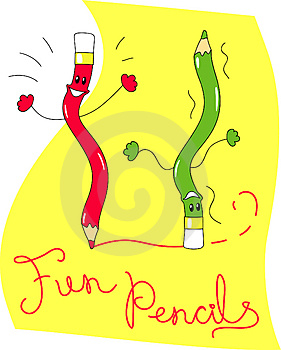 Fun Pencils Stock Photography - Image: 3887282