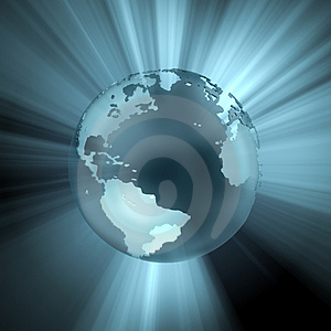 Globe (Light And Reflections) Royalty Free Stock Photography - Image: 3888847