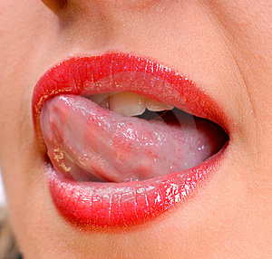 Sexy lips Royalty Free Stock Photos