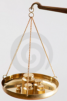 Scales with metal Stock Photography