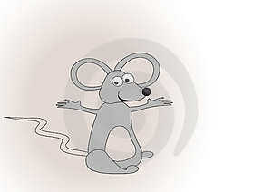 Illustration With Grey Mouse Stock Images - Image: 3901814