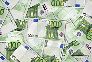 Europejskiego Zjednoczenia Banknoty 100 Euro Obrazy Stock - Obraz: 3905724