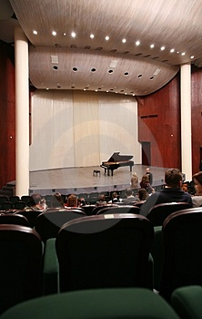 Interior of concert hall Royalty Free Stock Image