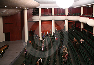 Listeners, Who Leave Concert Hall Royalty Free Stock Photo - Image: 3907275